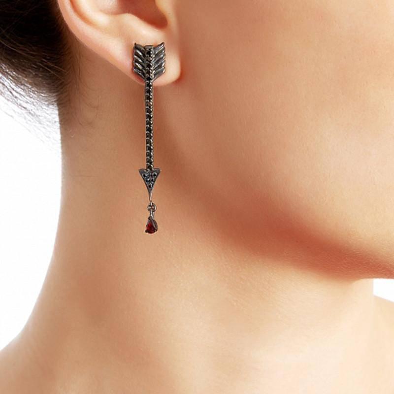 серьги стрелы Амура украшения Dzhanelli Jewellery House