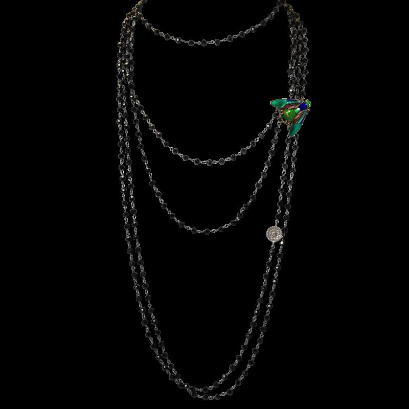Сотуар из черной шпинели украшения Dzhanelli Jewellery House