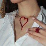Алое сердце украшения Dzhanelli Jewellery House